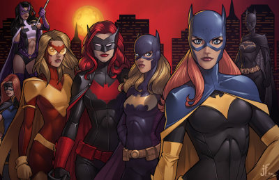 timetravelandrocketpoweredapes:  Batwomen by Jamie Fay, colors by Emilio J. Lopez