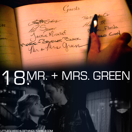 littleoliverchloethings:  18. Mr. + Mrs. Green #Smallville #Chlollie