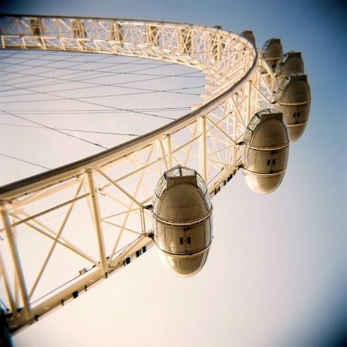 'If we turn, turn, turn, turn, turn, then we might learn' London Eye, March 2011.