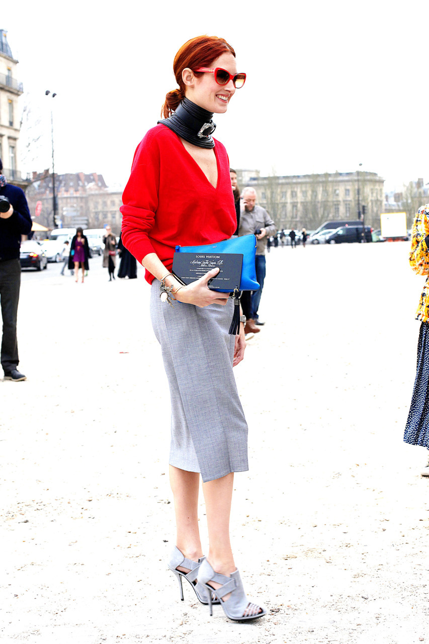 Taylor Tomasi Hill, before Louis Vuitton, Paris.