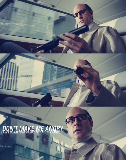 parabellumeve:  Mark Strong as Sorter in Revolver (2006)  I think Sorter is probably Marks sexiest role.