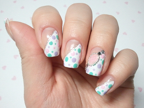 click through for tutorial (in my korean blog) dot pattern nailart