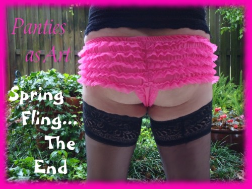 It's Spring ~ even boys need to get outside and play in their panties!