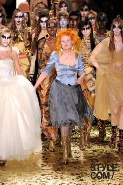 Vivienne Westwood turns 70 today!   Click for her Fall runway show.