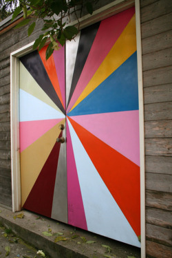 I love this colorful door! via