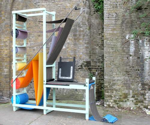 You do Bag A colourful working installation using Kvadrat fabrics and Bemis adhesive technology to produce a stitch less heat pressed bag. The installation is a display of material and technique in which visitors are invited to participate in the final process as they are asked to cut their own bag from the line and cutting the handle for the bag following the heat pressed seam. sponsored by Kvadrat and Bemis Installation during Milan design week——> 12/17 April 2011 at RCA intent, Via Massimiano 6, 20134 Milano, Ventura Lambrate  open daily 10:00/20:00