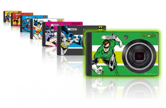 "DC Super Heroes x PENTAX Optio RS1500 Collector Pack. To celebrate the release of Green Lantern later this year, PENTAX have put together a limited edition pack containing their Optio RS1500 camera along with 7 interchangeable skins: Green Lantern, Batman, Catwoman, Wonder Woman, Superman, The Flash, and The Joker. You also get a 4GB SD card and Green Lantern protective case. Prepare to be the envy of Comic Con. And if for some crazy reason you're not happy with the skins provided (why wouldn't you be!?), you can print out your own using the PENTAX Personal Skin Designer software. Here's some specs on the camera: Total pixels: 14.53Optical zoom: 4XDigital zoom: 6.7XFocal length (equiv.): 4.9-19.6mm (27.5-110mm)LCD screen: 3.0"" TFT color LCD LCD resolution: 230,000 dots It can also do widescreen 720p video at 30fps. There's a buttload of other features (too many to list here), but you can check them out on the PENTAX website. I've contacted PENTAX for a price and release date and will update this post if I hear back from them. [Via Freshness Mag]"