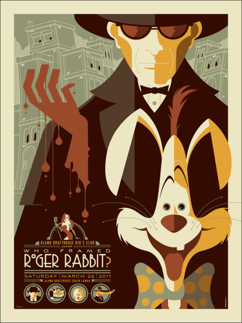 laughingsquid:  Who Framed Roger Rabbit by Tom Whalen