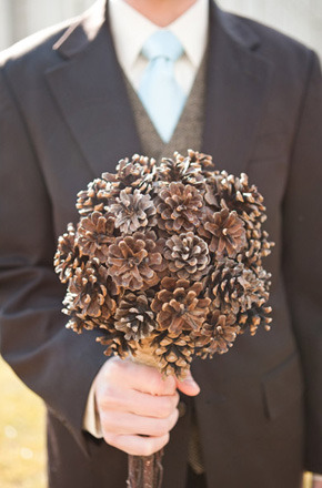 Wedding Ideas : Pinecone Wedding Bouquet