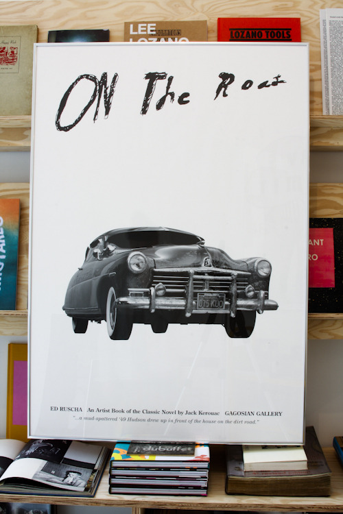 Ed Ruscha, On The Road: An Artist Book of the Classic Novel by Jack Kerouac Gagosian Gallery, London, 2009 One in a series of three posters 39 x 27 inches (99.1 x 68.6 cm) $40 PURCHASE