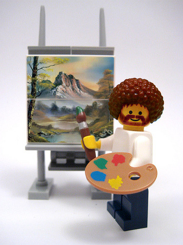 legoexpress:  Happy Little Trees (by nolnet)  Bob Ross Lego edition