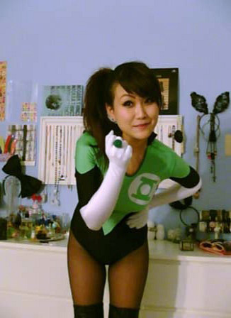 Submitted by theghostacademy:  In my Green Lantern costume, a variant from Soranik Natu's. /end nerd  Soranik is one of my favorite Green Lanterns. You win at cosplay, shut the competition down.