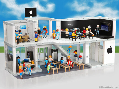 Playmobil version of an Apple Store. Complete with a little Steve Jobs. Someone please buy me this. (If it was Lego I would totally buy it.)