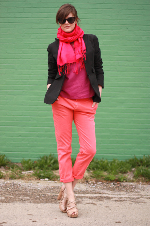 kimberlypesch:  pink perfection Jess! (via whatiwore)