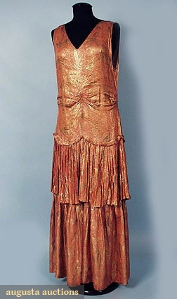 Party dress, ca 1928, Augusta Auctions