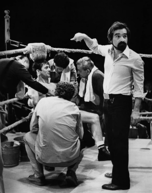 dadsamoviecritic:  Martin Scorsese and Robert DeNiro on the set of Raging Bull (1980)
