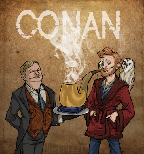 "korareefi:  ""I think pipes are really funny."" - Conan O'Brien Early early birthday pic for CoCo! I did promise I would make more art pieces when I had time, right? 8D Thanks for being patient! 8D Only ten more days till Conan's (and my) birthday! Wewt!  Just posting some stuff from my old KORAREEFi account on here!"