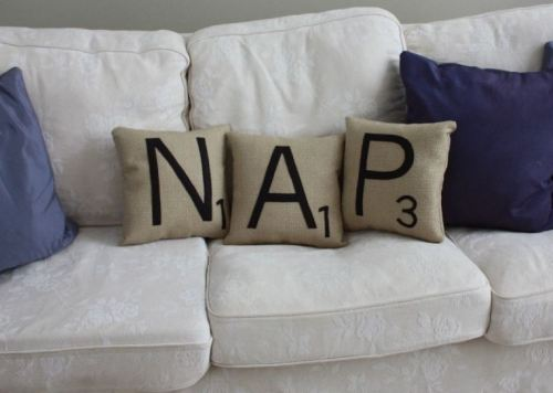 amorningcupofjo:  Yessssss. Shopdirtsa's Scrabble pillows are awesome.