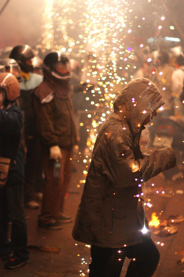 Bless me with this fire by dukeofspade Yanshui Beehive Fireworks Festival -Tainan county, Taiwan.They believe that these fireworks can drive bad spirits,bad luck away and refresh their souls.