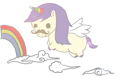 Unicorns & Mustaches!