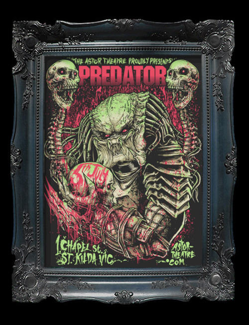 Predator Print by GODMACHINE (tumblr) Mine hangs in my front room, where's yours?