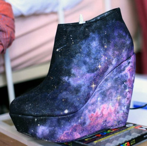 enimie:  Nebula galaxy shoes by Kustom Kix