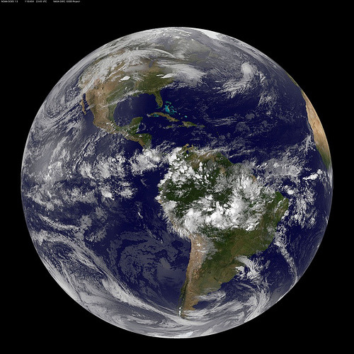 Full Disk Image of Earth (by NASA Goddard Photo and Video) NASA NOAA image captured April 9, 2011 0245 UTC