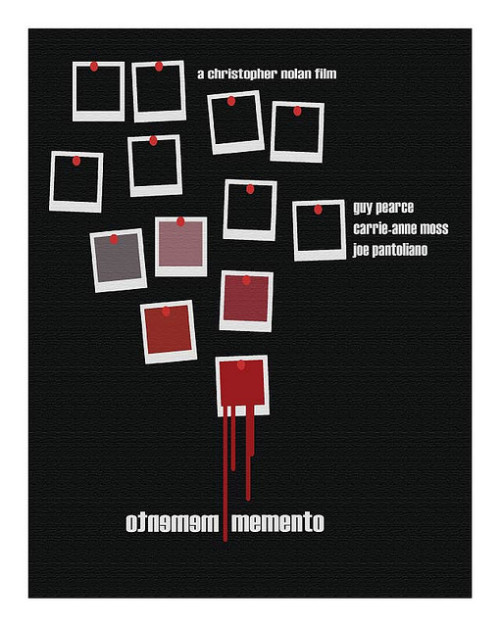 Memento: the movie that every film class watches to highlight the importance of editing.  minimalmovieposters:  Memento by Alex Eylar notdeadbutdefinitelydying's and humorphenomenon's request