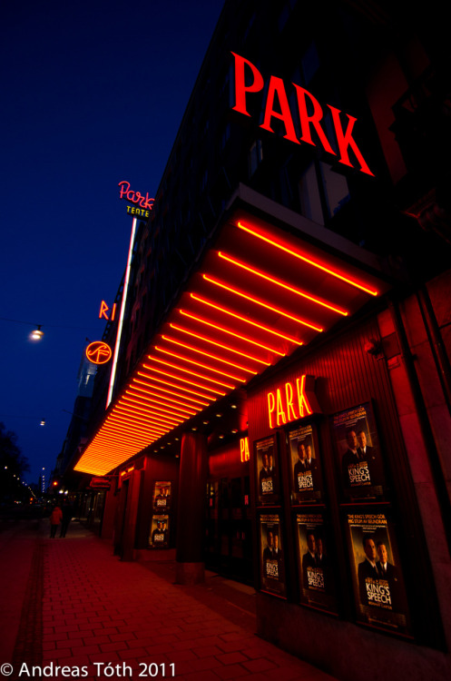 Park Cinema Stockholm at night.   Copyright © Andreas Tóth 2011