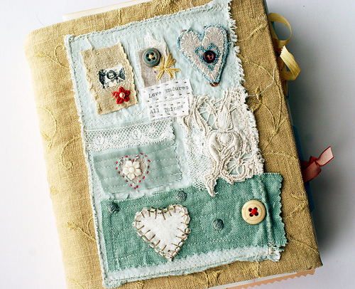 Art quilt journal—love endures (by Rebecca Sower)