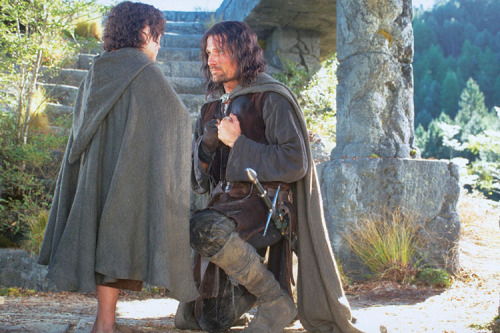 "Aragorn: ""I would have gone with you to the end, into the very fires of Mordor."""