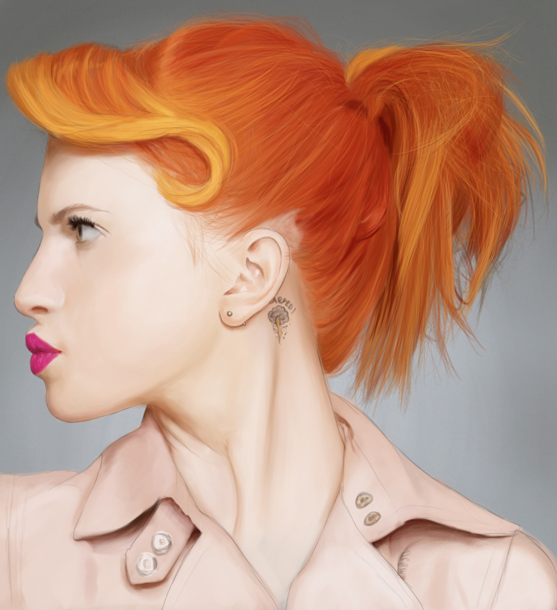 eruptedrainbow:  Hayley Williams speedpainting by me.