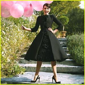 "Emma Roberts posing as Audrey Hepburn - ""She was so simply beautiful. And she loved charity work, something even more beautiful about her."""