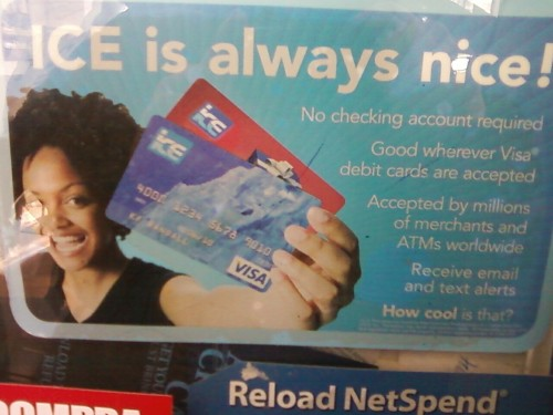 Visa ICE: credit cards for people who sell meth.