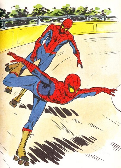 gh2u:  spiderman at the roller derby by Enea Riboldi
