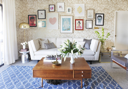 Apartment Therapy: How To Hang An Art Collection Without Putting A Million Holes In The Wall