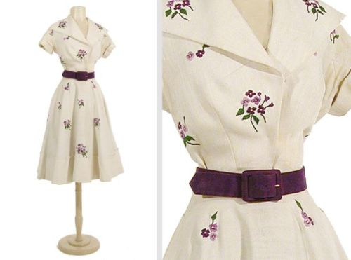 Christian Dior dress ca. 1950 via Doyle Auctions