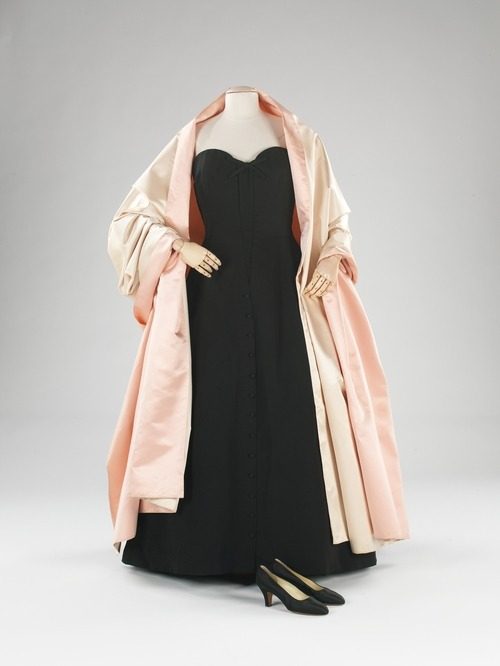 Christian Dior evening ensemble ca. 1954 via The Costume Institute of the Metropolitan Museum of Art