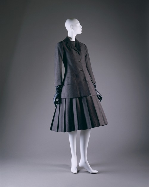"Christian Dior ""A"" ensemble ca. 1955 via The Costume Institute of the Metropolitan Museum of Art"