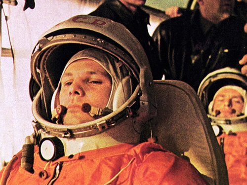 "In this image Yuri Gagarin, pilot of the Vostok 1, is on the bus on the way to the launch. The cosmonaut behind Gagarin is German Titov, the back-up pilot whobecame pilot of Vostok 2.""Triumphant music blared across the land. Russia's radios saluted the morning with the slow, stirring beat of the patriotic song, 'How Spacious Is My Country.' Then came the simple announcement that shattered forever man's ancient isolation on earth: 'The world's first spaceship, Vostok [East], with a man on board, has been launched on April 12 in the Soviet Union on a round-the-world orbit.' wrote TIME magazine in their cover story of the event."" After the historical flight that lasted 108 minutes, he was no longer Senior Lieutenant Yuri Gagarin; he was Yuri Gagarin, hero and icon. During the flight, he was not allowed to operate the controls because the effects of weightlessness had only been tested on dogs so far. The mission was instead controlled by ground crews, and an override key was provided in case of emergency. Because of his popularity, the government would not allow him another trip into space. It was too dangerous and they did not want to lose their icon. Frustrated, Yuri went back to training in the MiGs. On March 27, 1968, Gagarin and his instructor, Vladimir Seryogin, took off in a MiG-15 fighter plane under poor weather conditions, which crash landed. He was just 34. Image Credit: NASA/Roscosmos & Public domain Source: Roscosmos Facebook page."