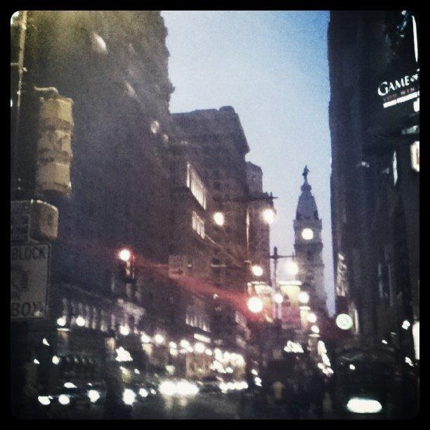 Walking down Broad street. Phila PA (Taken with instagram)