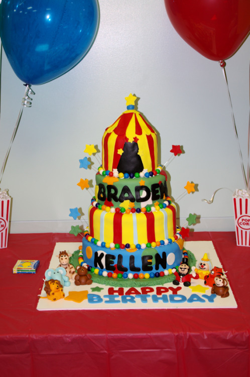 The circus cake was a hit! :)