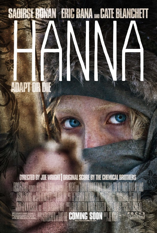 "Review: Hanna (released April 2011) I usually try not to spoil movies too much for your sake, but this.. might not be one of those non-spoiling ones, Chu. Here`s that warning you`ve complained I don`t put before a review :) The impression. I actually didn`t have much of an impression before walking into the theatre. But I did get a chance to see the trailer > click. Someone is after this girl (named Hanna obviously), and something is special about her. The question was why and what, which may have ended up being the same thing. The introduction. We`re introduced to Hanna`s lifestyle with her father Erik Heller, in the forest in the midst of snow (obviously a very deserted area). Here is a list of things we learn about her: She is incredibly able to defend herself with a knife, gun or without a weapon at all. She has an amazing ability to hunt, and of course, run. Note the foreshadowing when she kills the deer with her bow and arrow: ""I just missed your heart."" She`s able to speak many different languages: I believe the ones in the very beginning were English, German, Italian and then Spanish. Later we discover she can also speak Arabic and Japanese. She has been cut off from society for a reason that isn`t explained to the audience. She has vast knowledge of the outside world, but although she`s heard of them, she`s never actually seen things like electricity or heard things like music. When she`s thrown on a chase/run from an intelligence agent, Marissa Wiegler who won`t stop at anything to kill her, there is much comic relief from her social awkwardness. The action. The scenes were all great: the chase, the fighting, even (or some would say, especially) the really graphic murders. These murders were at times gruesome because Hanna had obviously been raised to kill to defend herself, so we`re watching a 16 year old kill ruthlessly, without guilt and very skillfully. Whenever the music picked up, and the bass and tremble went waay up, you knew that Hanna (or some scenes, her father) was about to kill some people, hurt some people to get them out of her way or to get away from them. Why? It is explained that Hanna was part of a research project; Her ability to feel fear or pity has genetically been modified, and her ability basically to fight has been enhanced. The purpose was to create the ""perfect soldier."" The research project was shut down, and the children were killed by project leader, of course Marissa. But she failed to kill Hanna. And so, pursues her now that she`s been found. It seemed that anyone who helped Hanna get across Europe to meet her father was harmed or killed in one way or another by Marissa (or someone working for Marissa). The ending. Despite the explanation, we`re led to believe that Marissa had more reason than that to pursue Erik and Hanna. She went about everything as if it was her sole purpose in life to be the one to kill them both. Our ending begins when Marissa is at the end of her chase. Erik, in his attempt to distract Marissa so that Hanna could escape, was shot and killed by Marissa. Despite the distraction, Marissa catches up to Hanna and standing facing each other, Hanna has a chance to say ""Let me go, I don`t want to hurt anyone anymore.""  We could all guess that Marissa wouldn`t, and so Marissa shoots Hanna, while simultaneously Hanna shoots a makeshift arrow at Marissa. Neither are dead, but tragically Marissa slips, takes a tumble and loses hold of her gun. Hanna picks up the gun, stands above the fallen Marissa and says ""I just missed your heart."" And.. well. Shoots her. AND THEN? Credits. The end. The plot. ""A 16-year-old who was raised by her father to be the perfect assassin is  dispatched on a mission across Europe, tracked by a ruthless  intelligence agent and her operatives."" (source: IMDb) This one sentence really summarizes the whole movie. And the end can be summed up much the same way: Either Marissa or Hanna had to die to end the chase: Marissa died.. and so did everyone else, besides Hanna. Wasn`t super difficult to understand.. However, we are left wondering what happens to Hanna after Erik and Marissa are dead. We`re also left wondering why Marissa was so determined to personally kill Erik, and of course, Hanna. Did she really just hold a really deep grudge over something so.. simple? The cast. Hooray Saoirse Ronan (Hanna) for doing a wondrous job at portraying an almost unemotional little girl, however I haven`t previously heard of her. She will appear again on screen soon though, not to worry. Cate Blanchett (Marissa) had moments when she frightened me… Like when she was brushing her teeth to the point where they were crazy bleeding. I really think her attire, and eyebrows helped her play her character. I liked her, but she was kind of insane. Eric Bana (Erik) didn`t super wow me, but he was dashing after a haircut and shave… :) The opinion. Fast paced movie for the most part. Moments when Hanna wasn`t running or fighting were almost scarce and for her, short-lived of course. It was a bit disconcerting to watch Hanna kill and kill and kill. I can`t say I didn`t enjoy the movie, I really did, particularly when she successfully got away and when she was so socially awkward that it was funny: ""How did your mother die, Hanna?"" HAHA ""Three bullets."" What a girl. Certain scenes had me cringing a bit, some others had me wanting to hide. Not a must-see, but it wasn`t bad either :) 3 stars."