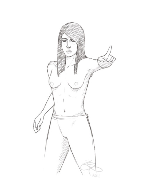 uh, i just wanted to draw her topless. initiallyshewasgoingtobeverynaked. :T