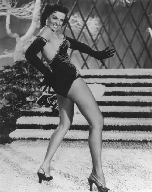 theniftyfifties:  Jane Russell in action.