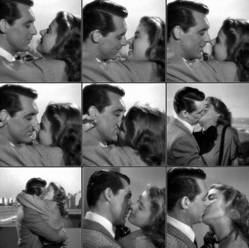 Cary Grant and Ingrid Berman in Notorious, 1946A kiss is a lovely trick designed by nature to stop speech when words become superfluous. - Ingrid Bergman