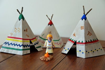 craftdiscoveries:  that artist woman: How to Make Mini Teepees