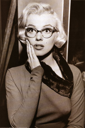 "I love her glasses in this film, ""How To Marry a Millionaire."""
