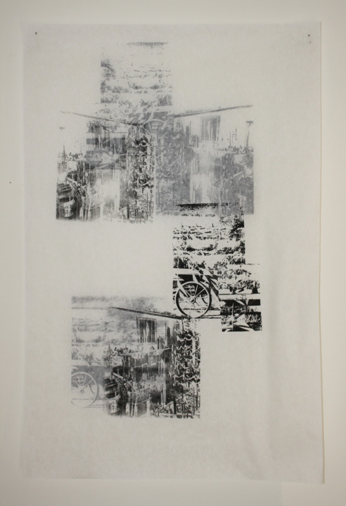 "1.     ""Untitled"". Screen print on two sides of transparent paper. For three-dimensional print project. 2011."