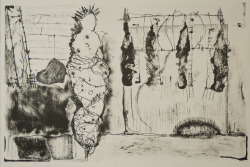 From the series: Sin documentos #1 54 x 36,8 cm Lithograph 2011